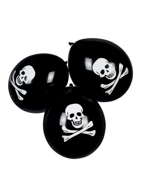 6 globos piratas (25 cm)