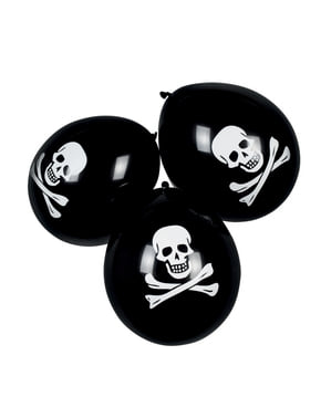 6 піратських надувних кульок (25 см.)