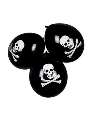 Set 6 palloncini pirati (25 cm)