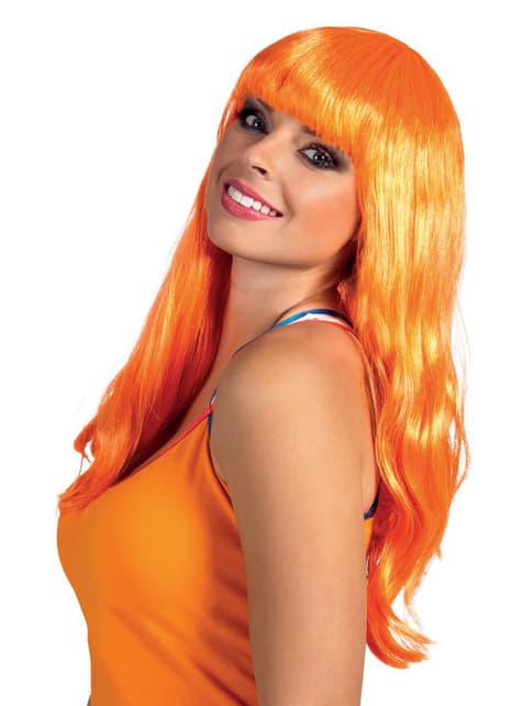Adult's Long Smooth Orange Wig