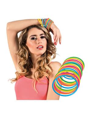 Set de 15 pulseras multicolor para adulto