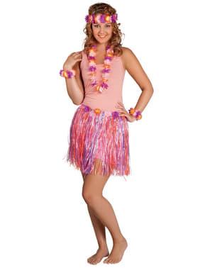 Hawaiisæt i lyserød, lilla og orange til kvinder