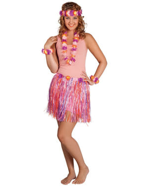 Zestaw hawajski w tonie fuksja damski