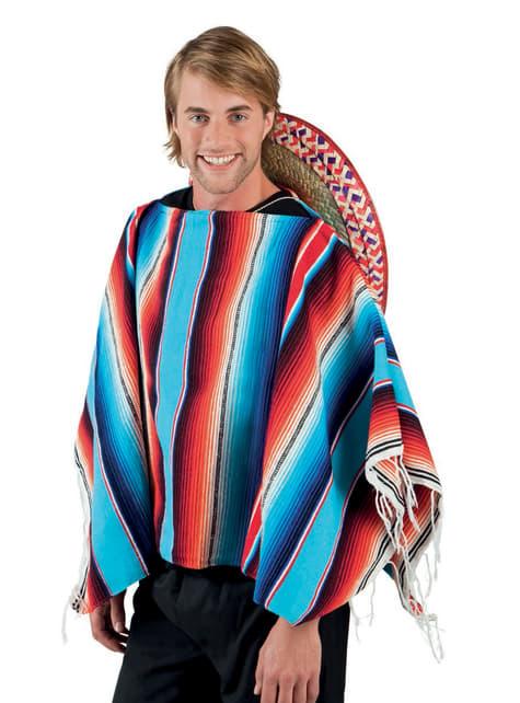 Poncho de mexicano para adulto
