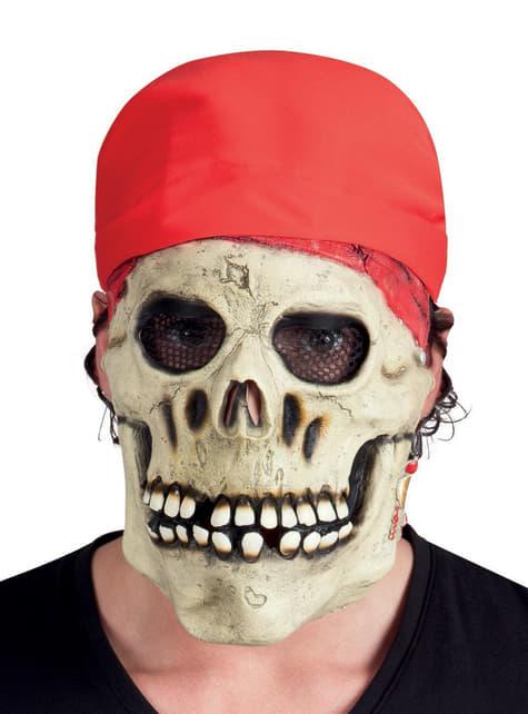 Máscara de pirata esquelético para adulto