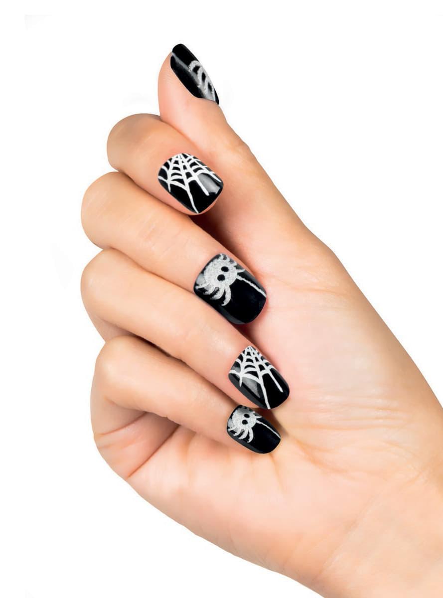 Woman's False Cobweb Nails