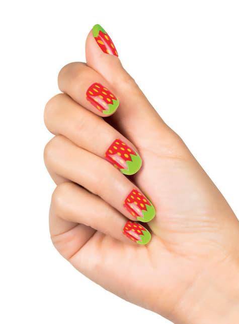 Woman's False Strawberry Nails