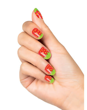Woman's False Strawberry Nails