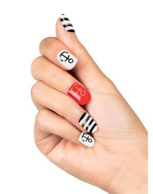 Sztuczne paznokcie marynarskie damskie
