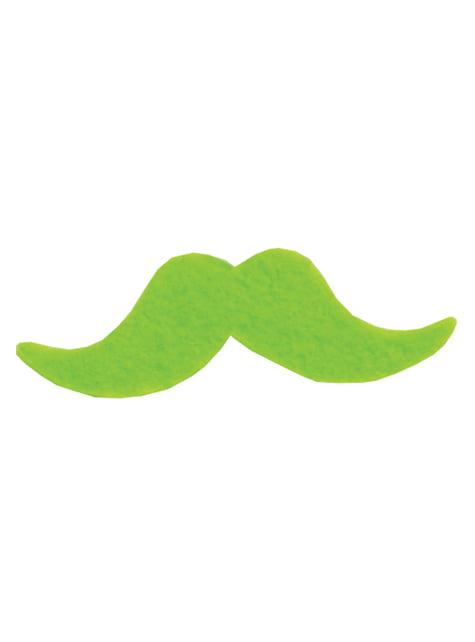 Set of 6 Multi-coloured Moustaches
