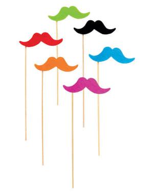 Набір з 6 різнокольорові вуса