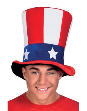 Cappello dello Zio Sam per adulto