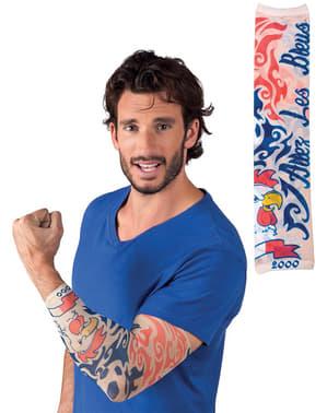 Tatuaggio Allez les blues per adulto