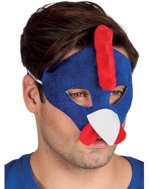 Maschera da gallo blu per adulto