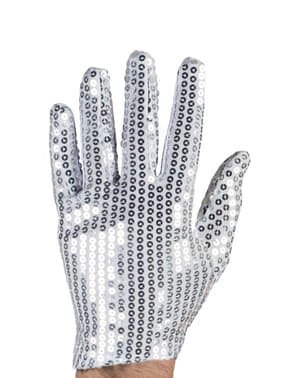 Silver Sequinned Gloves