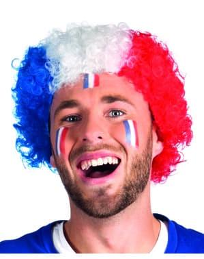 Pruik afro Frankrijk voor volwassenen