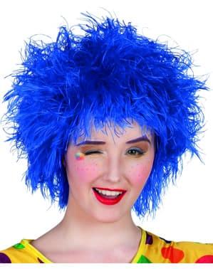 Perruque décoiffée bleue femme