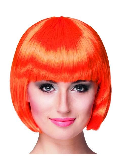Peluca corta naranja para mujer