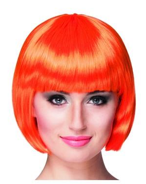 Kurze orangene Perücke für Damen