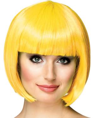 Peruca curta amarela para mulher
