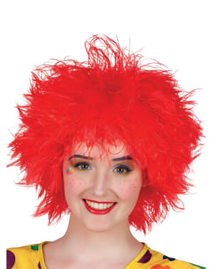 Perruque décoiffée rouge femme