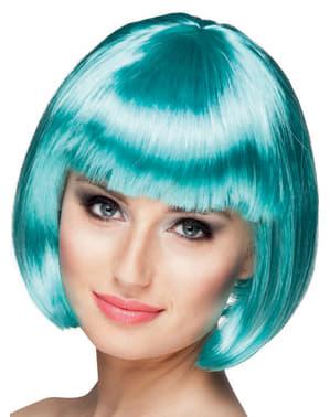 Naisten sininen lyhyt peruukki