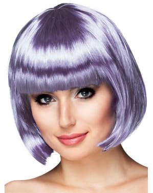 Parrucca corta lilla per donna