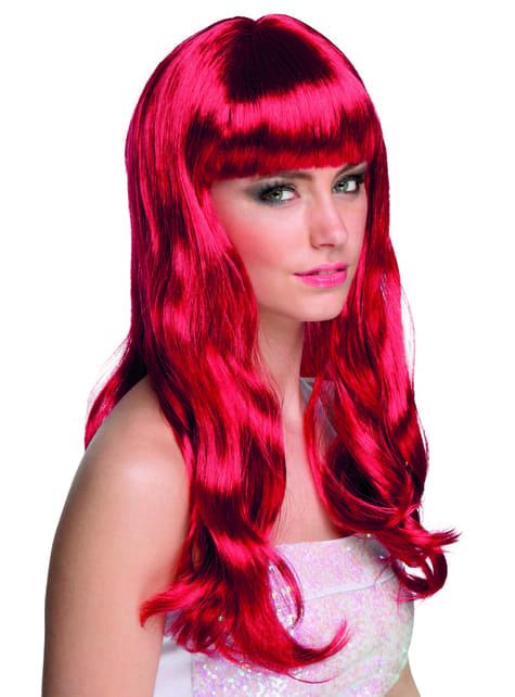 Peluca rojo rubí para mujer - para tu disfraz