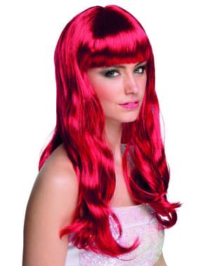 Peluca rojo rubí para mujer