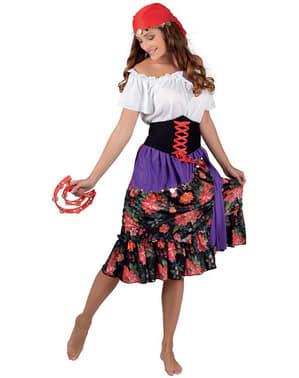 Blumiges Zigeunerin Kostüm für Damen