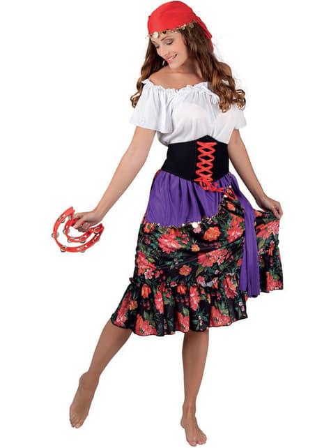 Disfraz de gitana floreada para mujer - mujer