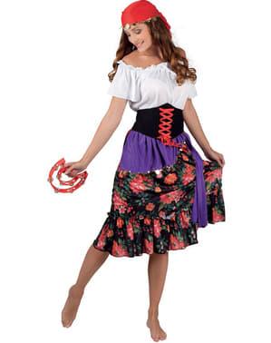 Disfraz de gitana floreada para mujer