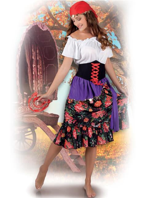Disfraz de gitana floreada para mujer - original