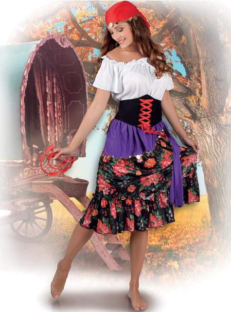 Disfraz de gitana floreada para mujer - traje