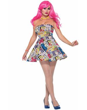 Vestido pop art comic para mulher