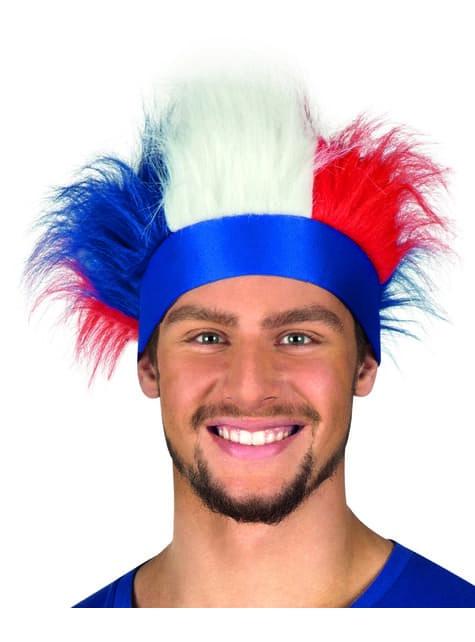 Cinta con pelo tricolor Francia