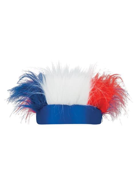 Cinta con pelo tricolor Francia - para tu disfraz