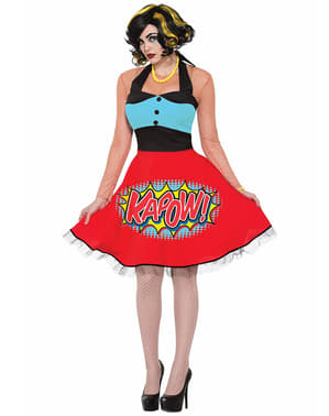 Dámský kostým v pop art stylu