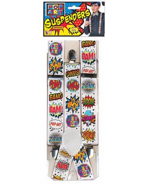 Bretels Pop Art voor volwassenen