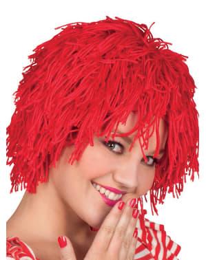 Peruca de boneca de trapo ruiva para mulher
