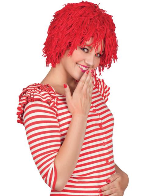 Peluca de muñeca de trapo pelirroja para mujer - para tu disfraz