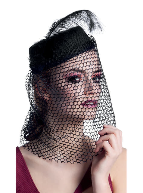 Sombrero de viuda tenebrosa para mujer