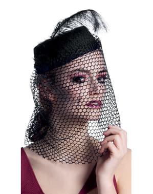 Chapéu de viúva tenebrosa para mulher