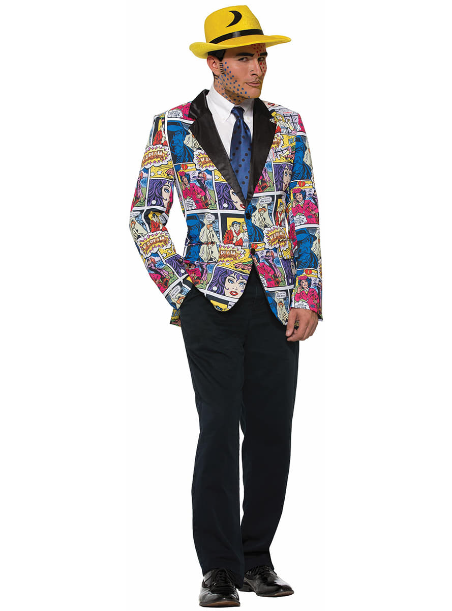 veste de costume pop art comic homme funidelia. Black Bedroom Furniture Sets. Home Design Ideas
