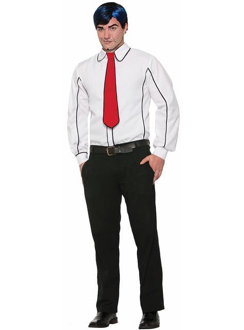 Pop Art bluse og slips til mænd