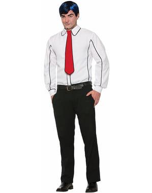 פופ ארט חולצה ועניבה לגברים