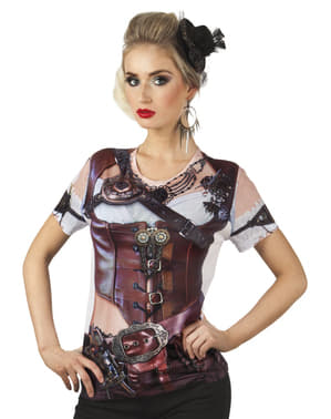 Fotorealistisk Steampunk T-Skjorte Mann