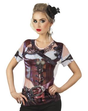 T-shirt réaliste Steampunk femme