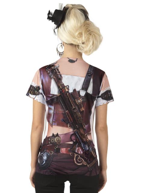 Camiseta fotorealista de Steampunk para mujer - mujer