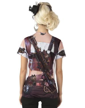 Bluzka z realistycznym nadrukiem Steampunk damska